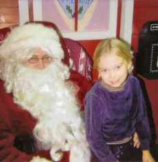 2005 Linda with Santa 6 years old
