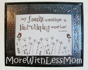 Bird Chirping Weather printable
