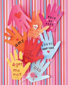 Hand Shaped Valentines from MarthaStewart.com