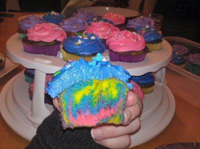 Neon cupcakes