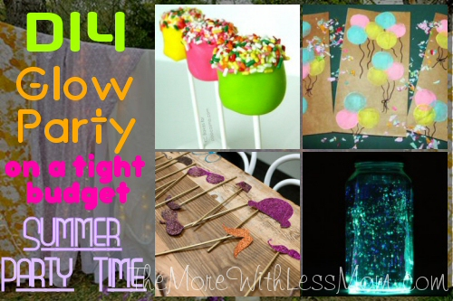 Glow Party Teen Birthday Summer Party Time