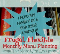 Frugal, Flexible Monthly Menu Planning