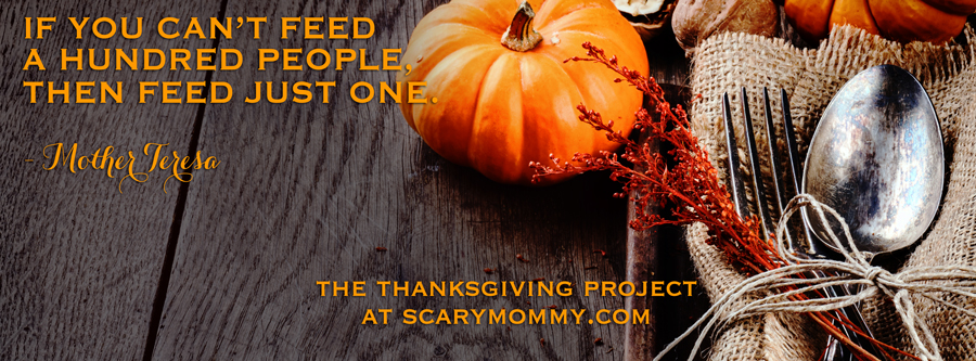 Scary Mommy Nation Thanksgiving Project