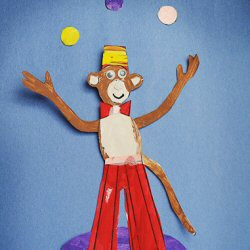 Juggling monkey
