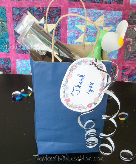 Teacher appreciation gift with handwritten note