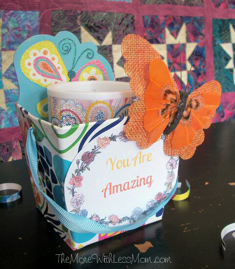 You are amazing appreciation gift, candle, butterfly clip