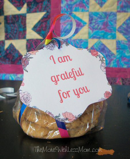 I am grateful for you gift, with cookies