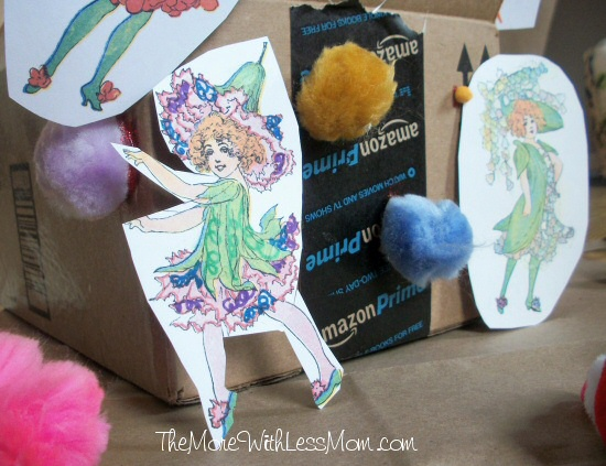 Marker rainbow flower fairy
