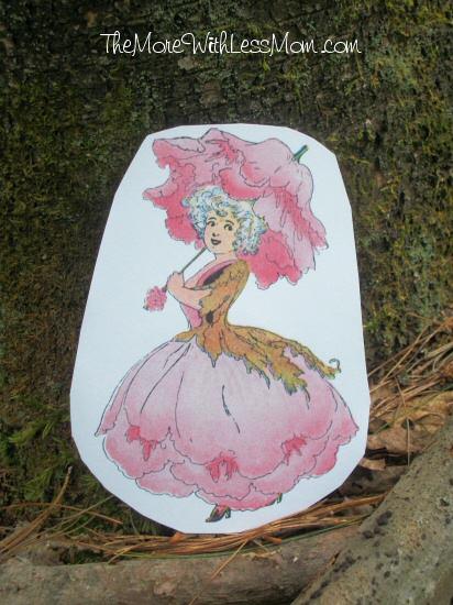 Peony flower fairy