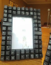 Computer Keyboard Photo Frame Tutorial from Handmade by Hannah