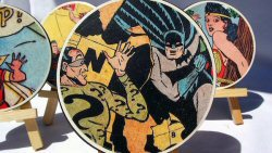 Crafts for men: comic book DIY coasters from Mod Podge Rocks