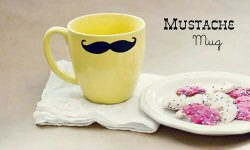 Mustache mug tutorial from The Tortoise and the Hare