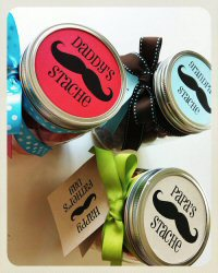 Father's Day Gift: Daddy's Stache Free Printable from Sandy Toes and Popsicles (Mason Jar)