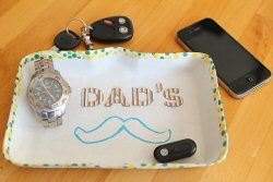 Father's Day Craft: Dad's Stache Tray From Modern Parents Messy Kids