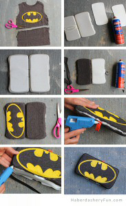 DIY Father's Day Superhero Wipes Case From Haberdashery Fun