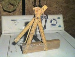 Build a trebuchet in five minutes on Instructables