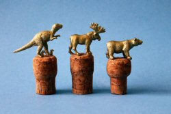 Gold Animal Wine Stoppers from Brit & Co
