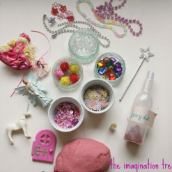 Invitation to Play with Fairy Play Dough