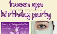Tween Girl Rock Star Spa Night Birthday Sleepover Party