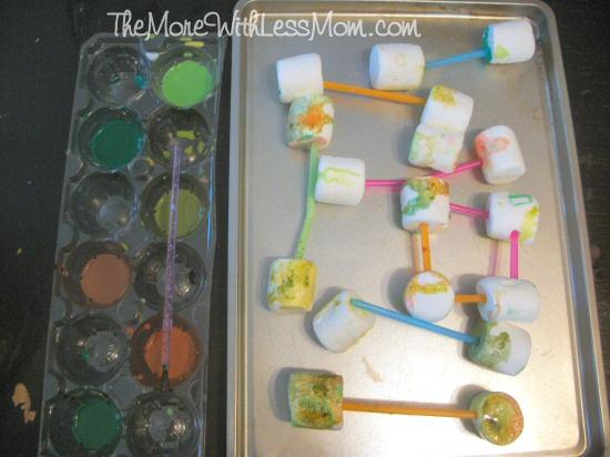 Preschooler marshmallow masterpieces