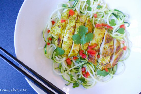 Lemongrass Chicken Zoodles