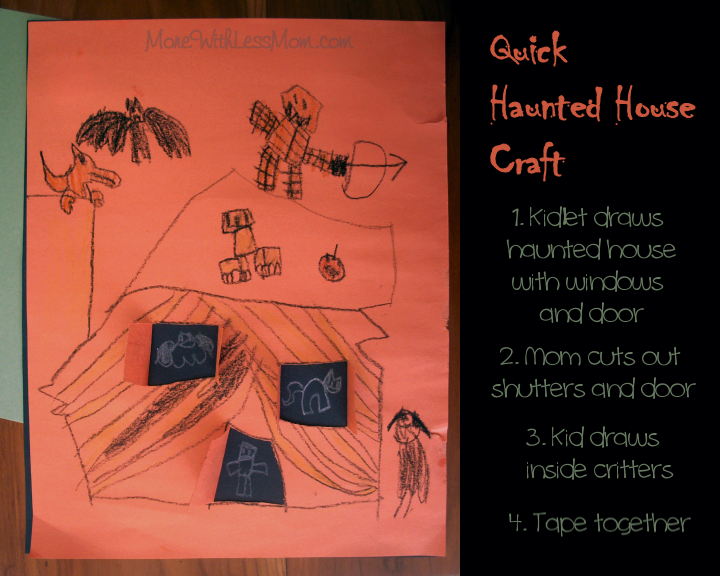 Quick Haunted House Craft for Halloween from The More With Less Mom