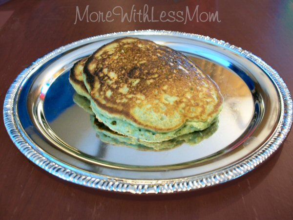Green Oat Pancakes for St Patricks Day from The More With Less Mom