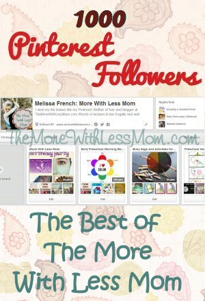 1000 Pinterest Followers Celebration Best of The More With Less Mom
