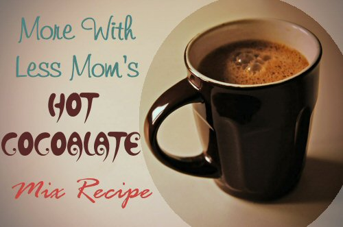 Hot Cocoalate Mix Recipe from The More With Less Mom