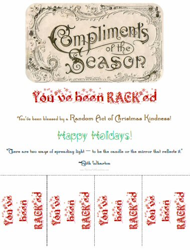Random Acts of Christmas Kindness Advent Calendar - RACK Printables ...