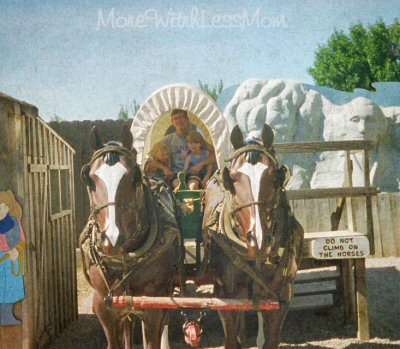 Kids on wagon at Wall Drug in SD