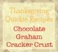 Chocolate Graham Cracker Crust Recipe