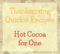 Hot Cocoa for One Recipe