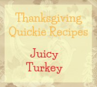 Juicy Turkey Recipe