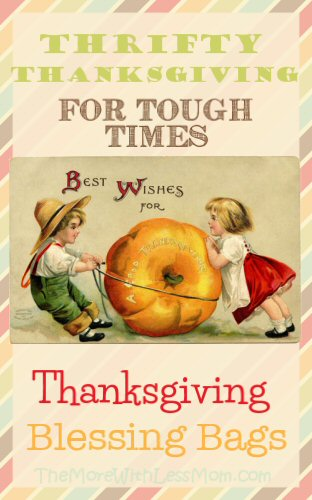 Thanksgiving Blessing Bags - Thrifty Thanksgiving for Tough Times from The More With Less Mom