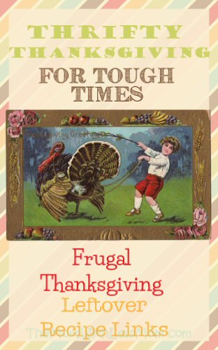 Thrifty Thanksgiving for Tough Times - Frugal Thanksgiving Leftover Recipe Links from The More With Less Mom